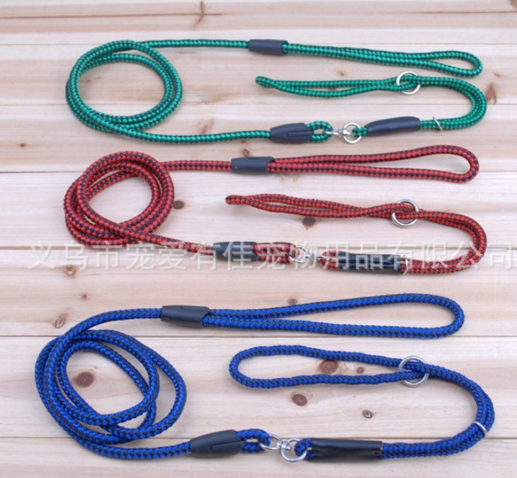 Yiwu Small mixed batch easy to pull pet leash dog leash dog chain P chain multicolor random shipping(China (Mainland))
