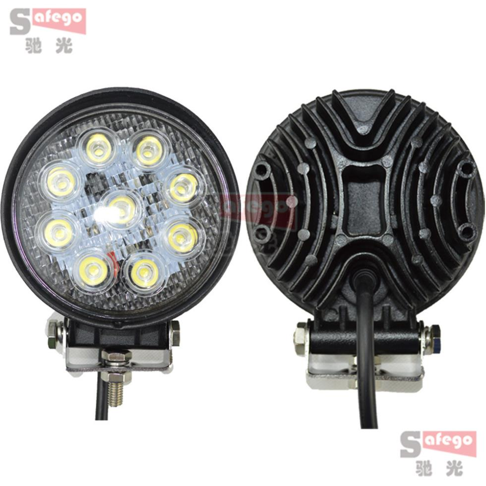 "2PCS LED Work Light 4"" Inch 27W Flood Fog Driving Lamp 12V for Motorcycle Tractor Truck Trailer SUV Offroads Boat 4WD Work Light(China (Mainland))"