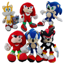 Buy New FS Sonic Hedgehog Shadow Knuckles Tails Echidna Miles Prower Tails Plush Doll Game Figure SEGA Anime Toy Kids Gifts for $9.38 in AliExpress store