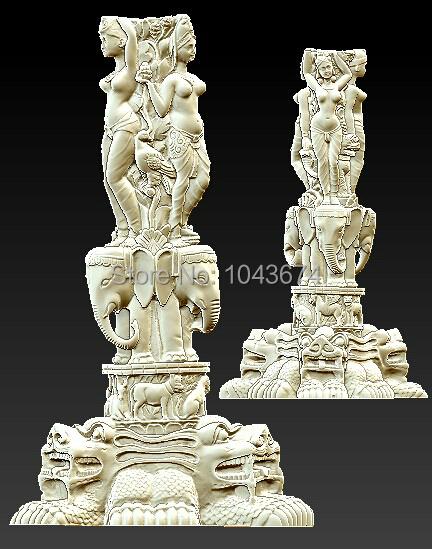 Buddha sculpture 3d model cnc machine Thailand Elephant 066 - CNC Models Store store