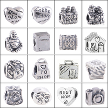 Buy 16pcs/lot Mixed Silver Plated European Charm Beads Fashion Jewelry Making DIY Pandora Bracelets Beads Free for $4.99 in AliExpress store