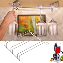 2015 New Arrival 3 Styles New Stainless Steel Wine Glass Holder Stemware Rack Under Cabinet Storage Organizer  ree Shipping(China (Mainland))