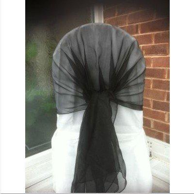 black chair cover hood chair sash organza