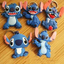 5pcs Anime Stich Keyring Key Holder Stitch Keychain Figurine Keyring Gift Birthday Bag Pendant