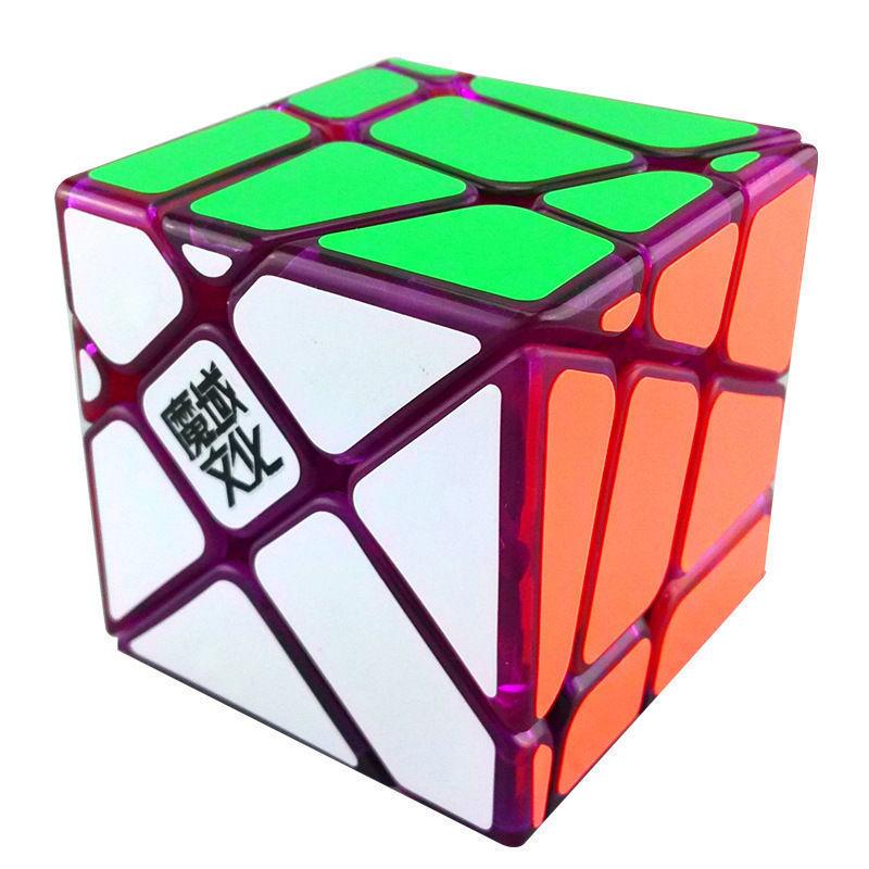 YJ MoYu Crazy YiLeng Fisher Transparent Purple Magic cube 3x3 Limited Edition(China (Mainland))
