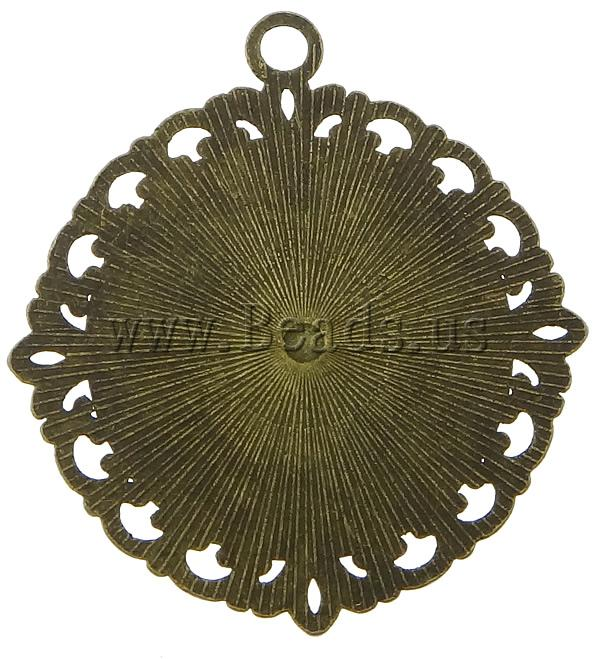 Free shipping!!!Zinc Alloy Pendant Settin Flower,Wholesale, antique bronze color plated, 40x40mm, Hole:Approx 3mm<br><br>Aliexpress