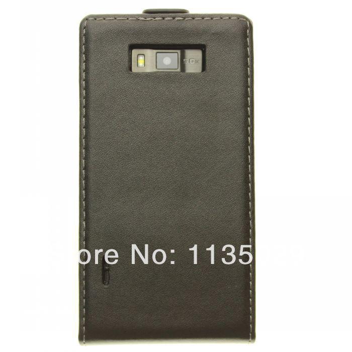10pcs/lot Mobile Phone PU Leather  Flip Back Cover Case For Optimus LG Optimus L7 P700 P705 free drop shipping