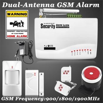 FUERS Беспроводной Системы Сигнализации GSM Двойная Антенна, Сигнализация Системы Безопасности Главная Сигнализации Русский Английский Голос с PIR детектор