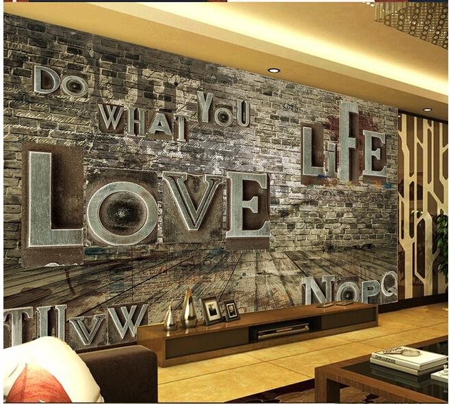 Buy large mural wallpaper retro lounge for Classic mural wallpaper