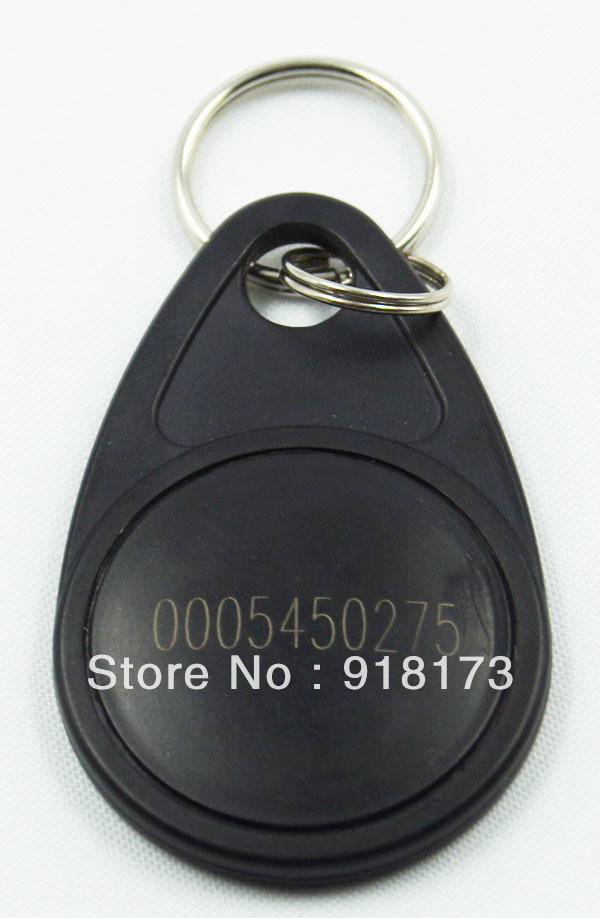 100pcs/bag RFID key fobs 125KHz  proximity ABS ID key tags access control TK4100/EM 4100 chip black<br><br>Aliexpress