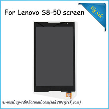 """High Quality!8"""" Black For Lenovo S8-50 Tablet PC LCD Display Screen+Touch Digitizer Glass Sensor Assembly+Free Shipping"""