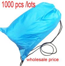wholesale factory price 1000pcs/lots mix color lazy bag with pocket inflatalbe laybag hangout(China (Mainland))
