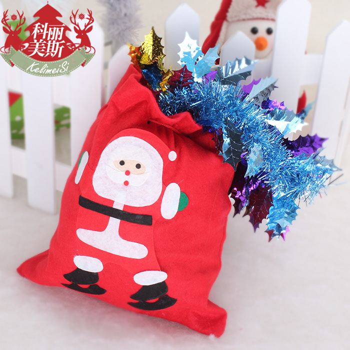 28cm pattern christmas gift bags backpack gift bag christmas decoration christmas backpack(China (Mainland))