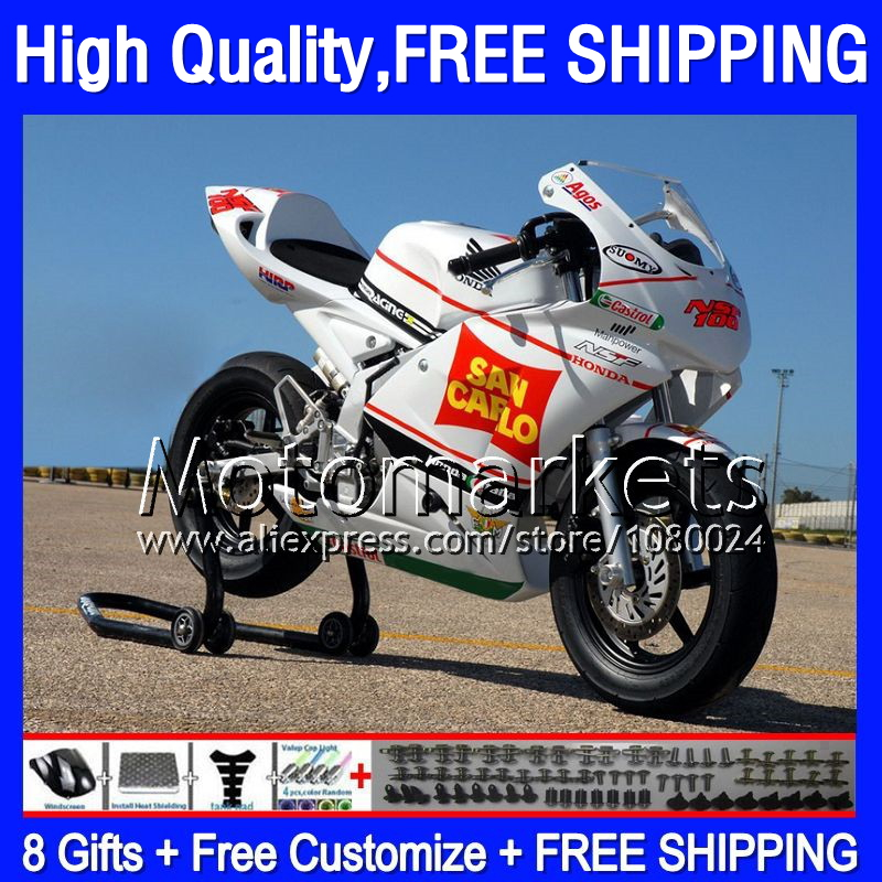 Red white 8Gifts For HONDA NSF100 06-10 NSF 100 9MK2 Castrol red NSF-100 06 07 08 09 10 2006 2007 2008 2009 2010 Race Fairing(China (Mainland))
