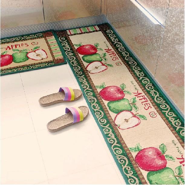 Vintage Style Apple Mat For Kitchen Bedroom Bathroom Green