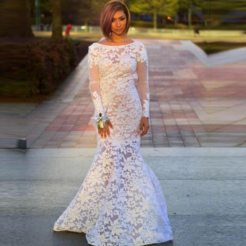 White Lace Long Dress Photo Album - Reikian