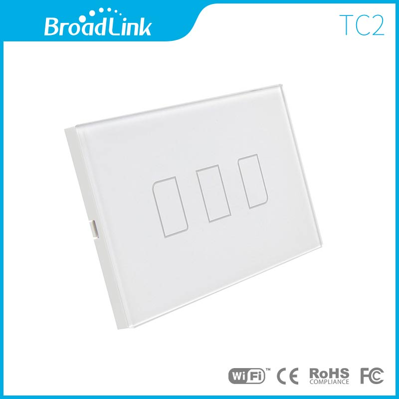 2016 New Broadlink TC2 3Gang US Standard Smart Home Automation Wireless Remote Control 433MHZ Wifi Wall Light Touch Switch 110V