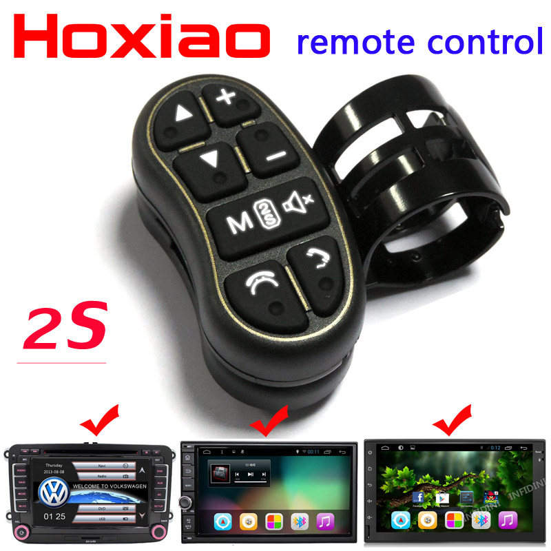 Car steering wheel button remote control lights car navigation DVD / 2 din android Bluetooth wireless Universal remote control(China (Mainland))