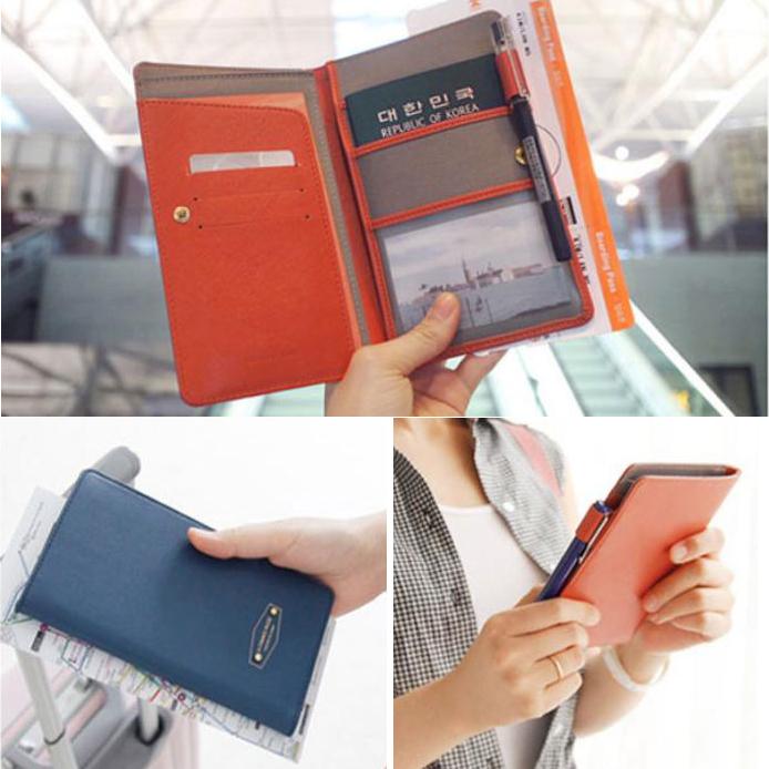 Travel Journey Unisex Women's PU Leather Passport Holder Wallet ID Card Case Cover Organizer(China (Mainland))
