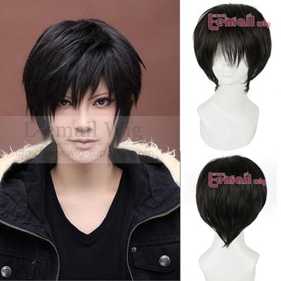 DuRaRaRa Izaya Orihara Cosplay Wig Men Short Natural Black Hair Wigs Free Shipping(China (Mainland))