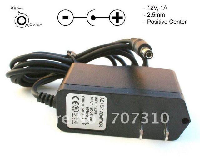FREE shipping  US 5V 1A CCTV Camera Power Adapter Supply EU Plug 100-240V AC 5.5*2.1mm