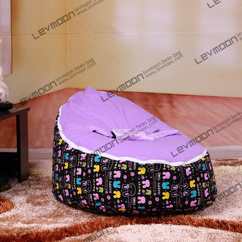 FREE SHIPPING bean bag with 2pcs voilet up cover baby bean bag chair baby bean bag bed lounger sofa stool(China (Mainland))