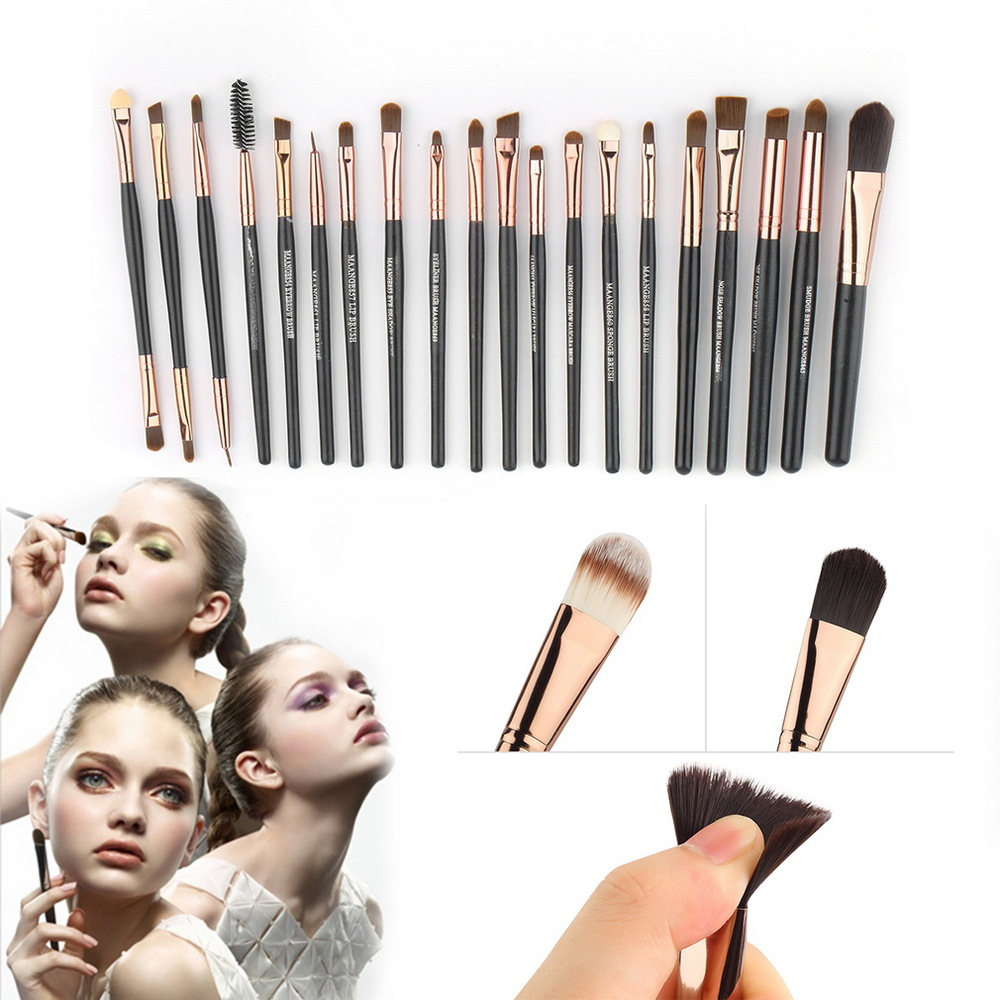 2016 Top Quality Professional 20 PCS Makeup Brushes Tools Set Cosmetic Facial Make up Brush Kit Wool Makeup Brushes Tools Set<br><br>Aliexpress
