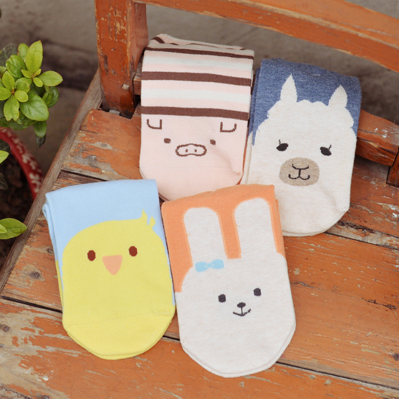 2Pair/lot Alice&Alan Summer Style Cute Lovely Cartoon Cotton Socks For Women Girls Sock Fashion Slippers Ladies Grey Ankle Meias(China (Mainland))