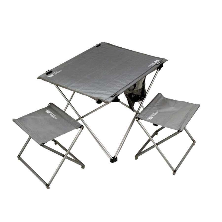 Top Sale 3pcs Indoor Outdoor Aluminum Lightweight Folding Chairs and Camp Table Portable Easy Set Up Sturdy Camping Chair(China (Mainland))