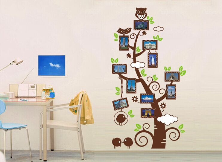 High quality diy removable art vinyl wall stickers decor for Diy photographic mural