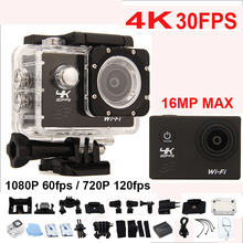 "Action Video Camera Allwinner V3 4K/30fps 1080P/60fps WiFi Mini Ultra HD 4K Camera 2.0"" 170D Helmet Cam Go Waterproof Pro camera(China (Mainland))"