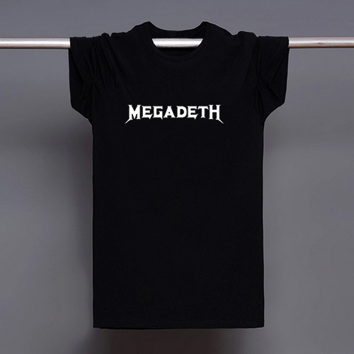 Megadeth Logo Print T shirt Men Tshirt Swag Clothes Tee Top Boy Teenage Tees Skateboard Black White US Music Star Heavy Metal(China (Mainland))