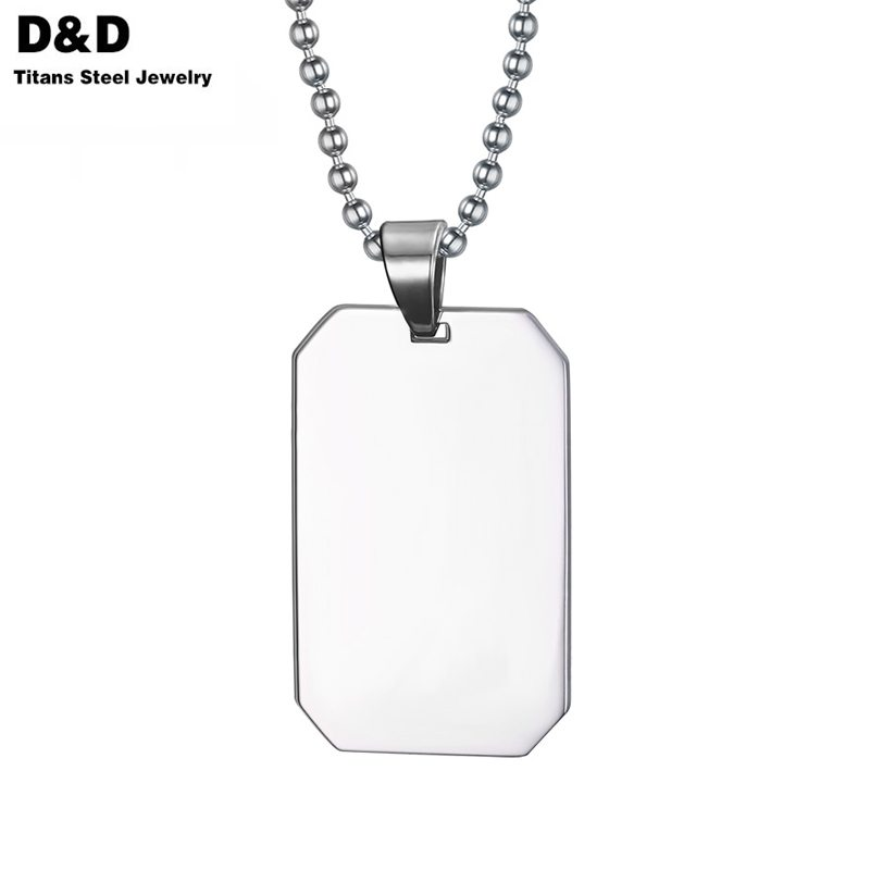 Promotion 316L Stainless Steel Dog Tag Necklace & Pendant For Men Boy Vintage Jewelry Gifts Wholesale PN-003(China (Mainland))