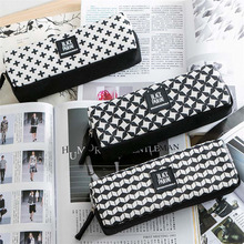 2016 pen box pouch bag bags school canvas cute cheap art supplies stationery pencil vintage stationery cases large South Korea