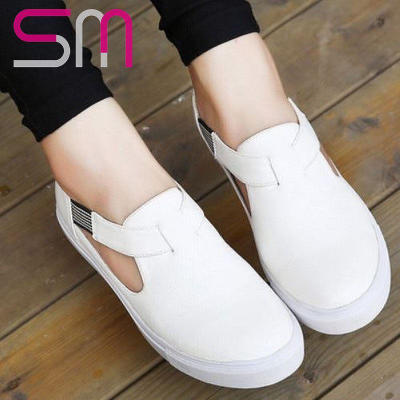 2015 Summer Flats Elegant Soft PU Rubber Sole Rome Style Flats Shoes Vintage Sexy Elastic Band Rubber Sole Spring Fall Shoes