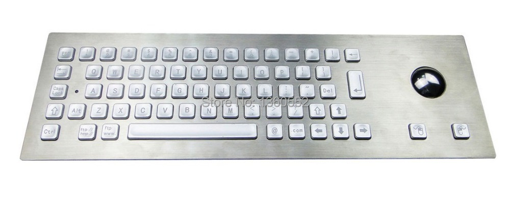 High Resistant Top Panel Mount Illuminated Metal Keyboard with Optical Trackball,Robust IP65 backlit customizable Metal Keyboard(China (Mainland))