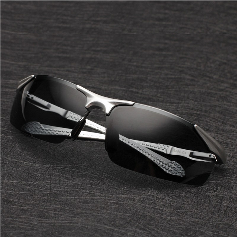 Men's polarized sunglasses aluminum and magnesium Car driving glasses Sunglasses influx of people goggles 8585(China (Mainland))