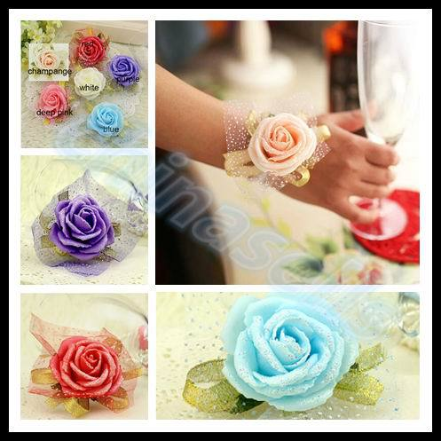 Лепестки роз Wedding wrist flower