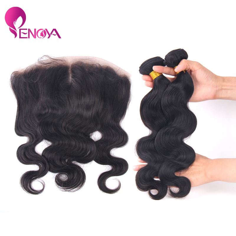 Free Shipping Malaysian Body Wave 13x4 Lace Frontal Piece with 2 Bundles Hair Weft(China (Mainland))