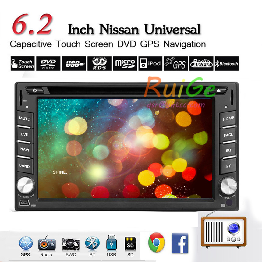"Universal 2 Din 6.2"" Auto Car Radio Stereo Car DVD Player double din bluetooth usb LCD touch Screen With GPS Bluetooth,Analog TV()"