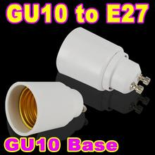 2pcs GU10 to E27 Base LED Light Lampbase Bulbs Adapter Adaptor Socket Lamp Holder Converter(China (Mainland))