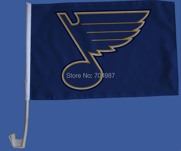 30 x 45 cm National Hockey League flag banner Saint Louis Blues NHL CAR WINDOW flag banner bandera free shipping(China (Mainland))