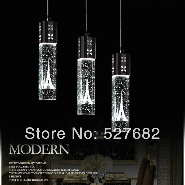 Modern Led Crystal Fashion Brief Bubble Pendant Light Kitchen Lamp Bedroom La