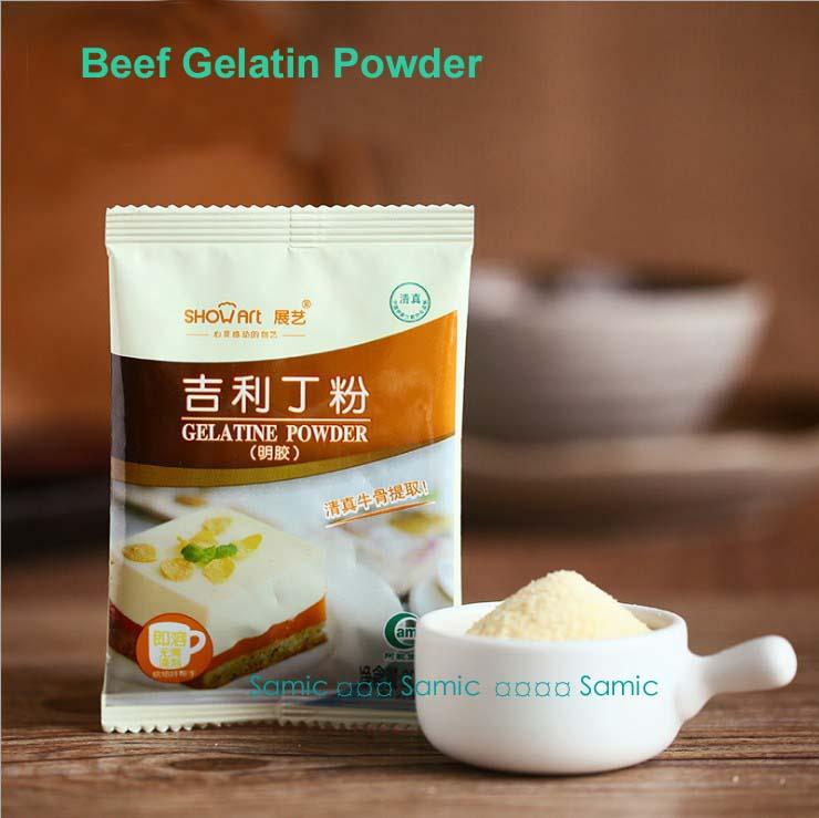 20g NEW FOODS BEEF GELATIN POWDER For Gummy Candy,Marshmallow,Cake,Pudding Edible Kosher(China (Mainland))