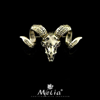 2016 Animal Zinc Alloy Real Limited Broches Brooches Fashion Sheep's Head Brooch Vintage Zodiac Skull Personality Men Pin(China (Mainland))