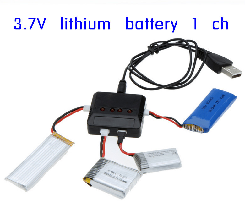 Original brand RC Helicopter Airplane 4port USB Lipo Battery Charger units For Hubsan Q4 H107L H107C WLtoys JJRC Syma X5C x5sc(China (Mainland))