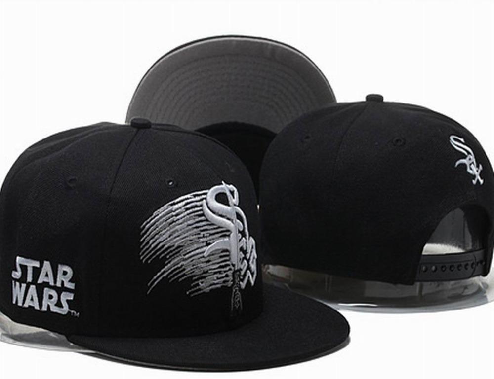 2015 Men's Full Black Chicago White Sox Snapback Hat Star Wars Embroidered Logo Baseball Team Adjustable Cap(China (Mainland))