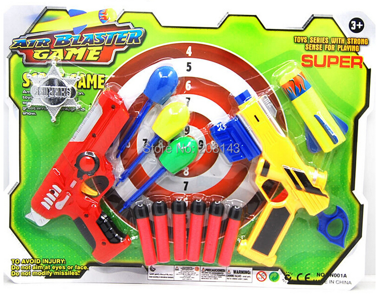 Interactive Shooting Game Soft Bullet Gun 2 PCS/Pack Nerf Air Toy Target Bullets - Yantai Tianhu Technology Co, Ltd. store