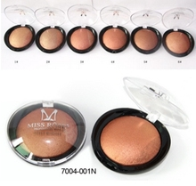 Miss Rose 2015 New Beauty Face Blush Makeup Baked Cheek Color Bronzer Blusher Palette colorete Sleek Cosmetic Shadow(China (Mainland))