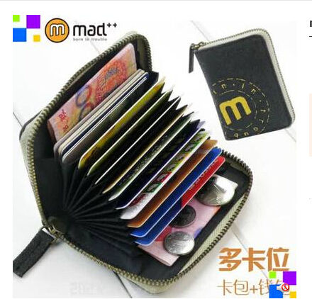 women men wallets Multi ID Credit Card Holder Case/Place Business card holder teenage student canvas wallet & zipper coin pocket(China (Mainland))